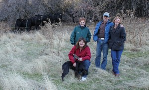 Executive Sous Chef Julie Zumwalt, Dining Manager Susan Todhunter, and ranchers Robert and Cheryl Cosner