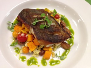 Recipe: Seared Black Cod and Succotash with Lemon Parsley Oil