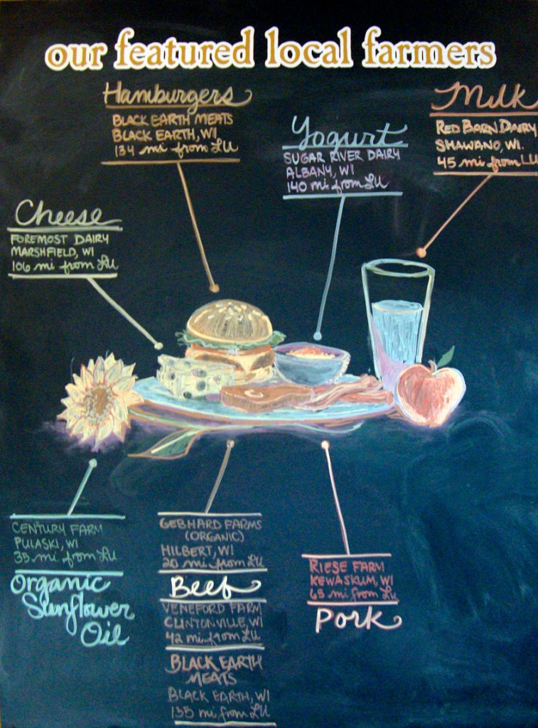 Every café has a Farm to Fork chalkboard listing its local suppliers