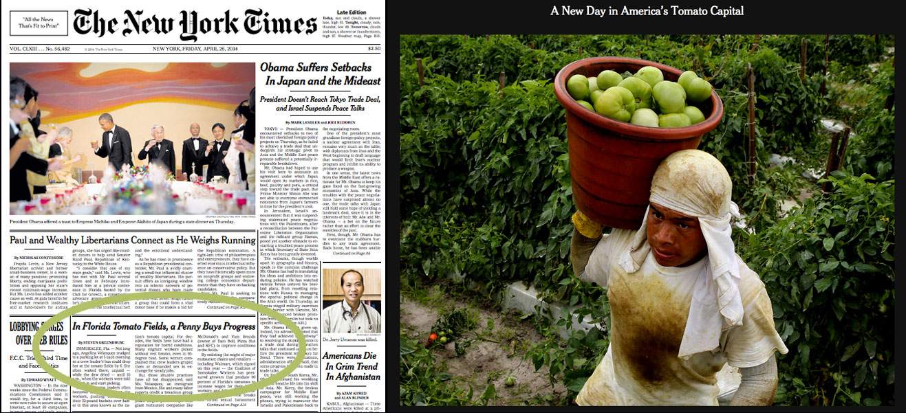 Read the New York Times' front page article plus slide show by Richard Perry