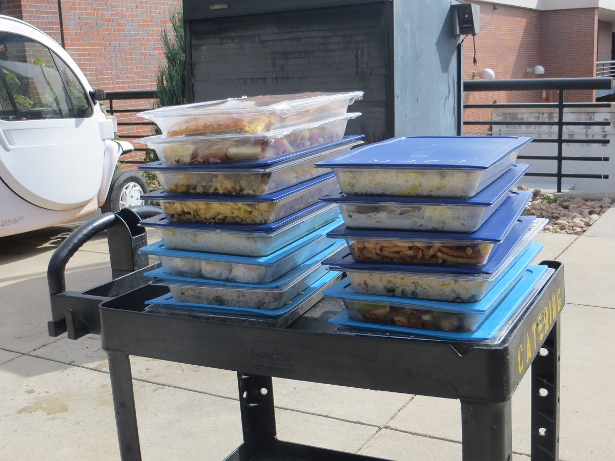 The recovered food from one day's rescue, weighing in at 140  pounds, was enough to provide dozens of meals.