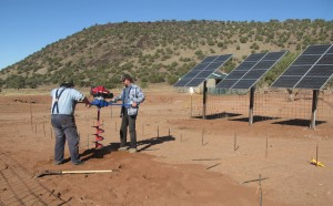 Drilling for the new solar array