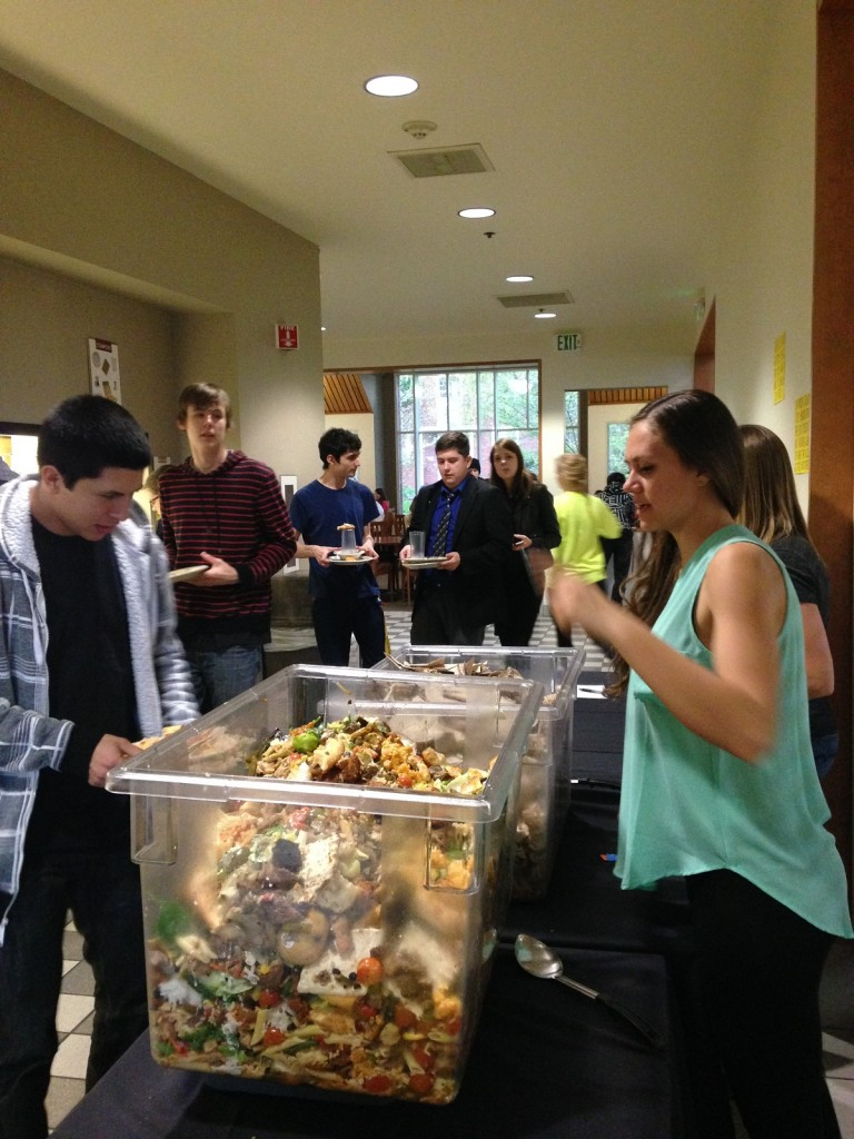 Student Food Committee Rep Layla Flint explains what we are doing to a student