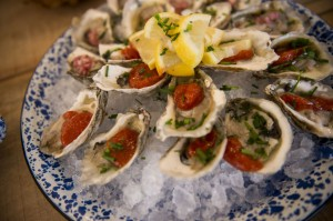 Oysters from Two Oceans True Foods were just one of ten locally inspired delicacies for the farm to table experience.