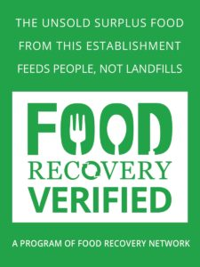 Food Recovery Verified sticker