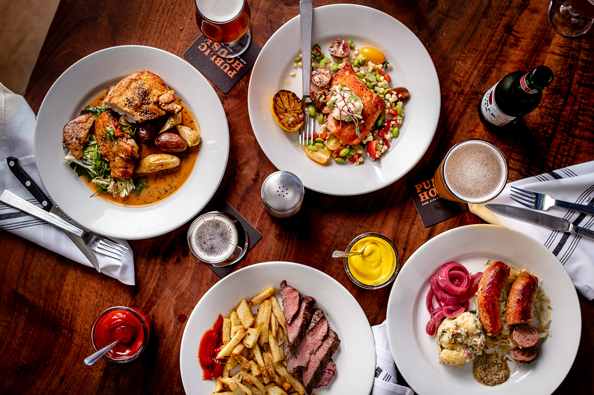 Dinner plates at Public House