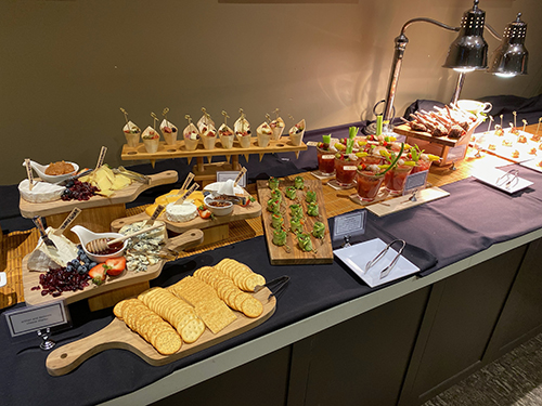 Appetizers for the Electronic Arts guests to enjoy while their pizzas were baking
