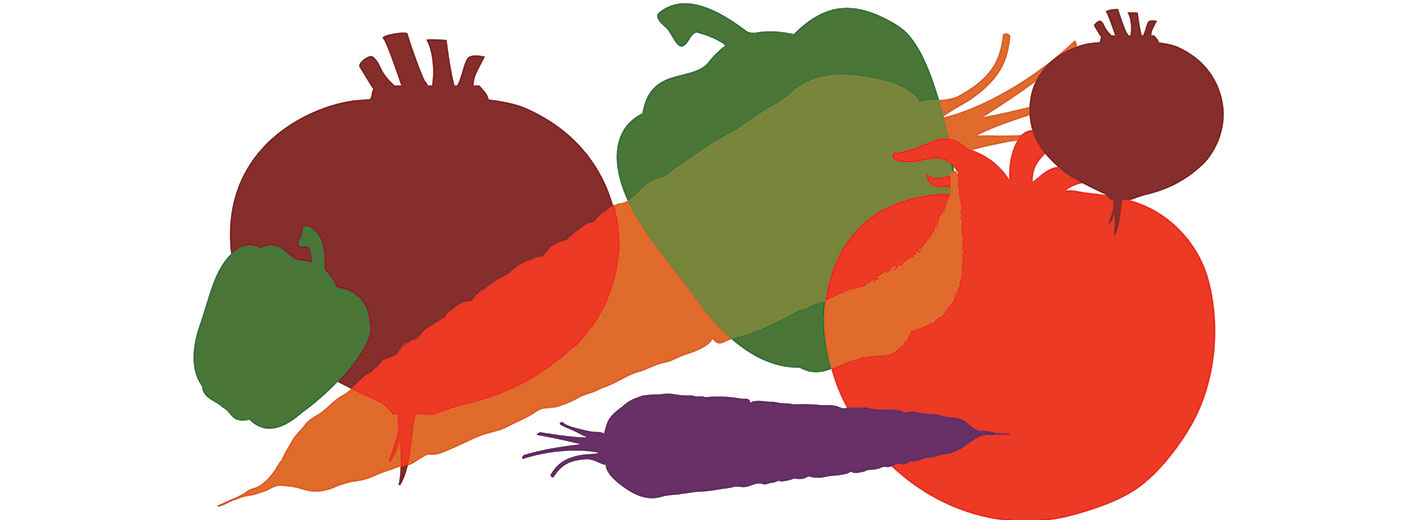 colorful fruits and veg
