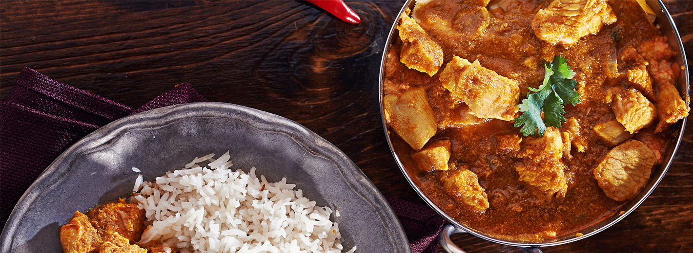 Butter chickenand rice