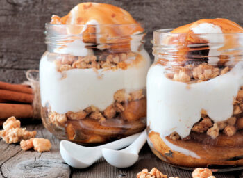 Warm Cinnamon Apples with Toasted Walnuts and Maple Yogurt