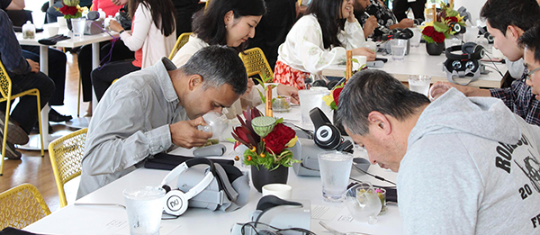 The event encouraged guests to engage all their senses while eating
