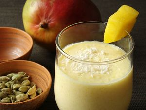 Hydrate the Healthy Way with a Peach Lassi Freeze