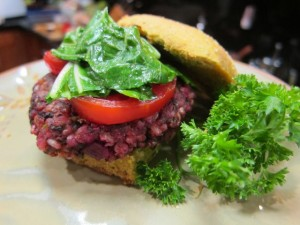 Recipe: Black Bean and Beet Burgers