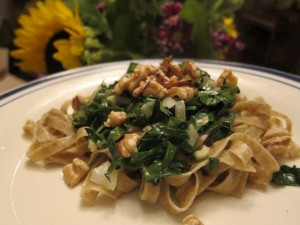 Recipe: Linguine with Kale and Walnuts
