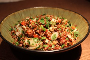 Quinoa and Water Chestnut Salad