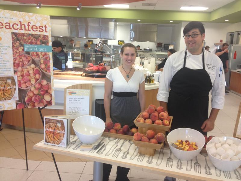 The team at RS5 café in Hillsboro, OR, is giving out peach samples and a copy of The Perfect Peach to a lucky guest