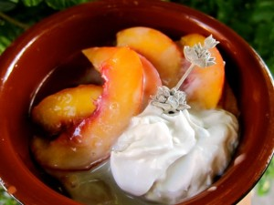Recipe: Nectarines and Coconut Cream