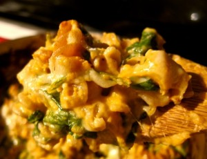 Recipe: Sweet Potato and Greens Macaroni and Cheese