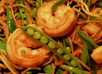 Recipe: Shrimp and Soba Noodles with Snap Peas