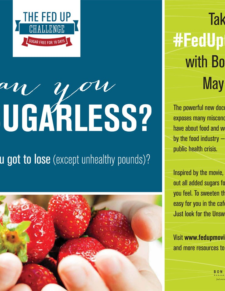 Bon Appétit Management Company Partners with Fed Up Film, Encourages Guests to Go Sugar-Free for 10 Days