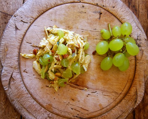 Recipe: Curried Chicken, Grape, and Almond Salad