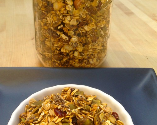 Recipe: No-Sugar-Added Pumpkin and Chia Seed Granola with Nuts