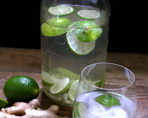 Recipe: Ginger-Lime Spa Water