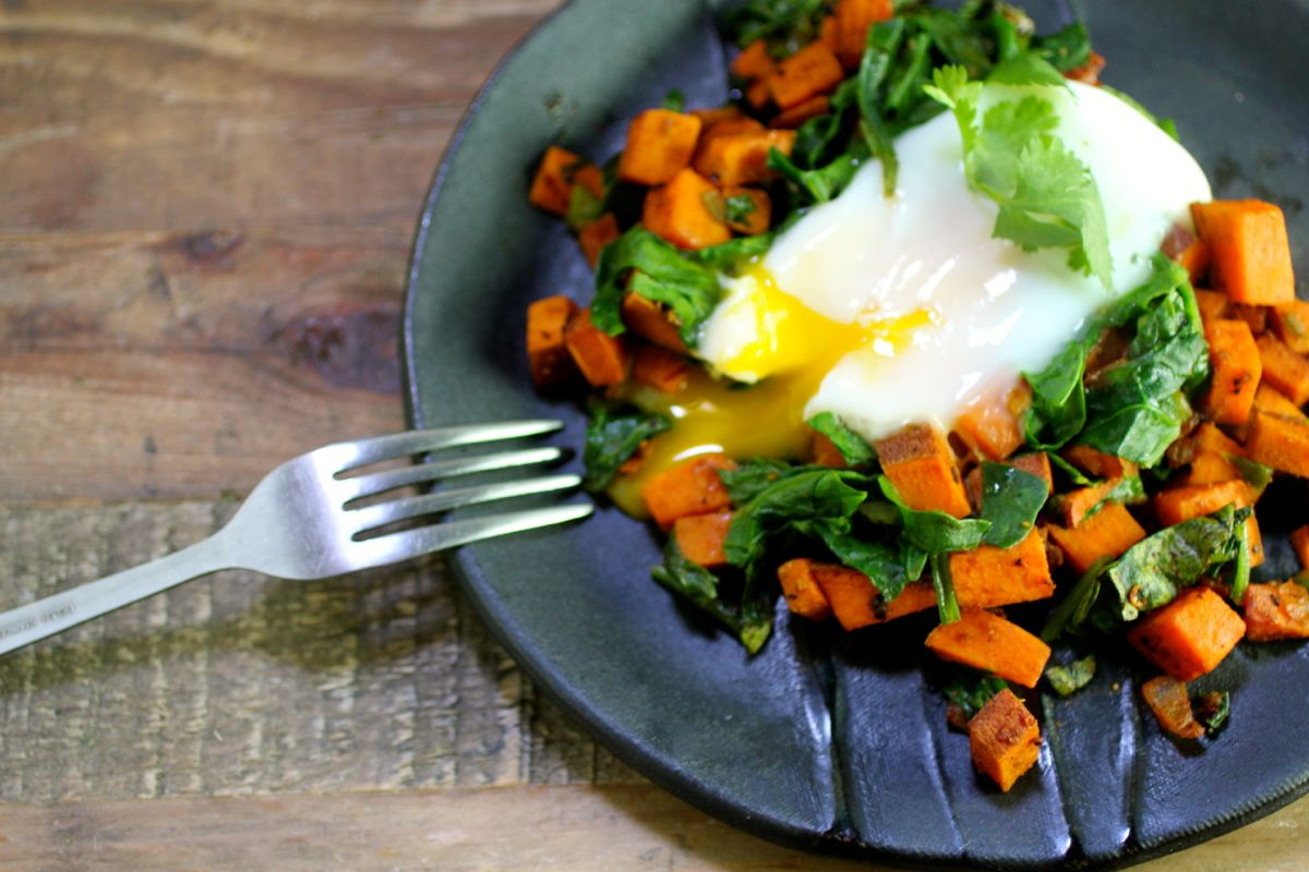 Recipe: Spicy Sweet Potato and Spinach Breakfast Hash ...