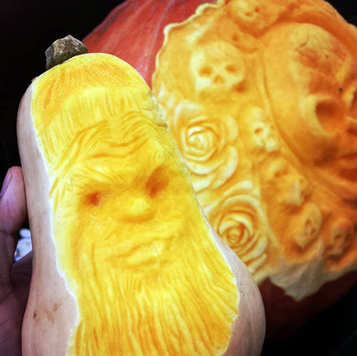 carved squash