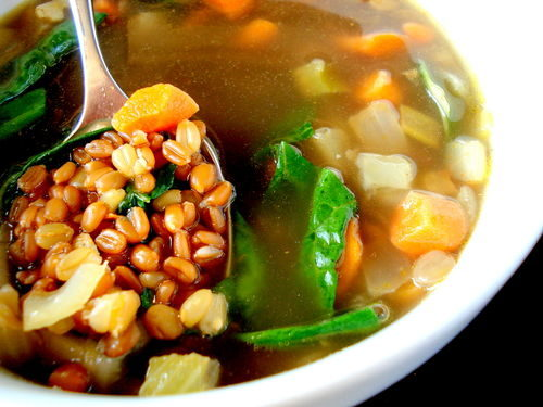 Recipe: Cumin-Scented Wheat Berry and Lentil Soup