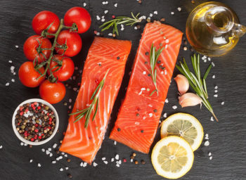 Recipe: Olive Oil Poached Salmon with Tomatoes and Herbs