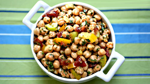 Recipe: Garbanzo Bean Salad with Red Curry and Tomatoes