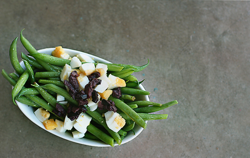 Recipe: Green Beans with Chopped Eggs and Olives