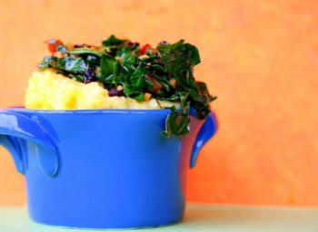 Recipe: Garlicky Greens Over Polenta