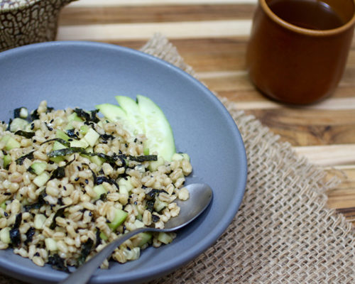 Recipe: Sesame Barley Salad with Seaweed, Sesame, and Cucumber