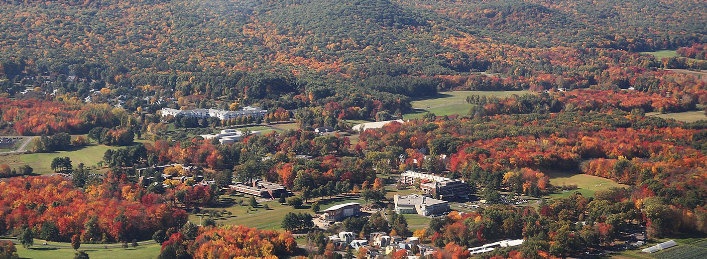 Hampshire campus from the air