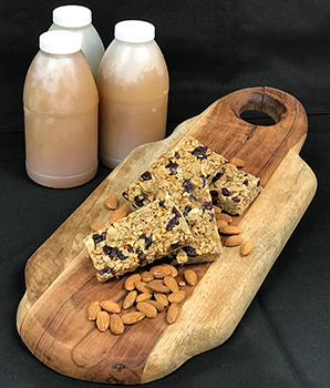 Pastry Chef Deb Thibodo's house-made granola bars made with the harvested honey