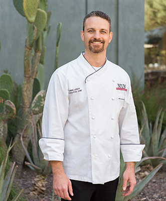 Executive Chef Chris Lenza outside the Musical Instrument Museum in Phoenix, where he frequently forages cactus paddles