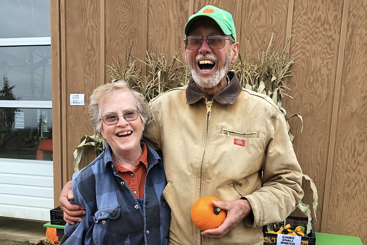 Farmers Nancy and David Brown at Mustard Seed Farms